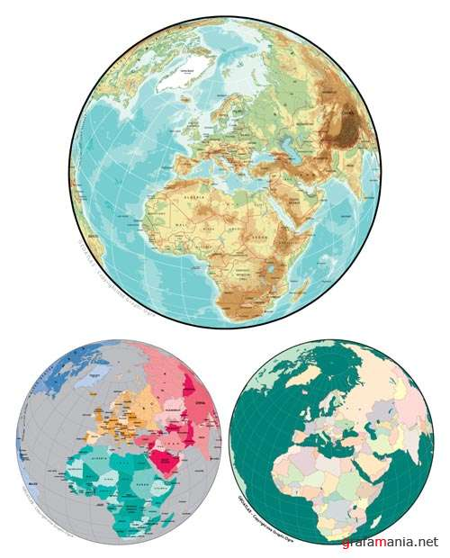 Europe Globes Vector