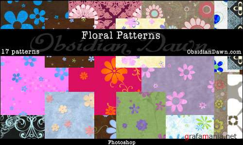 PH Floral Photoshop Patterns