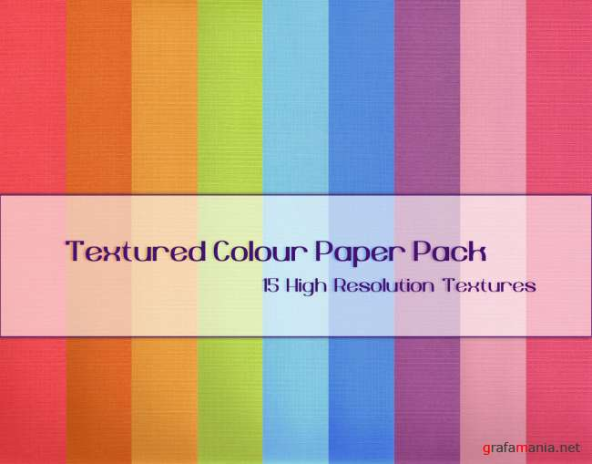 Textured Colour Paper Pack