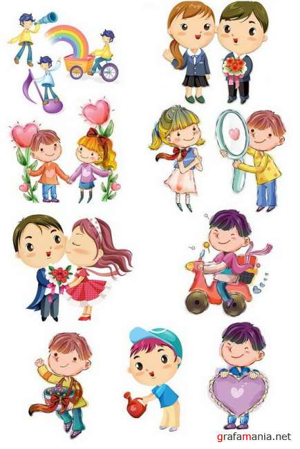 Little boys and girls PNG