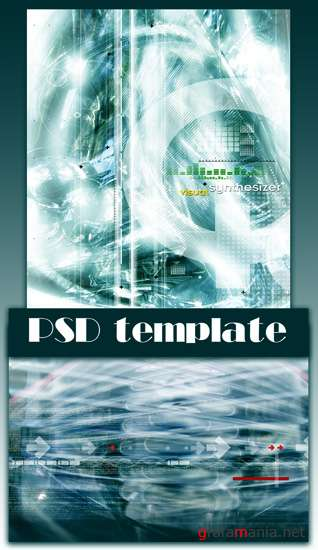 PSD Template Abstract Backgrounde