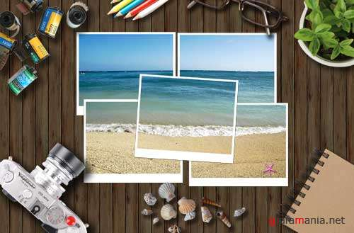 Photos from the Sea PSD template