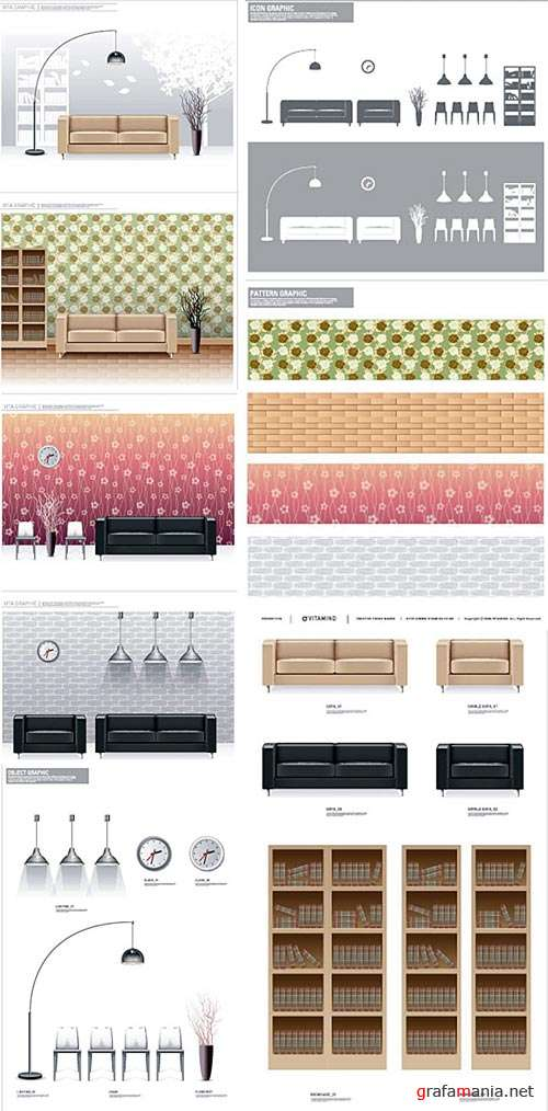 Vector Interior Objects