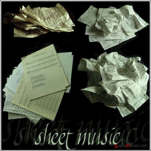 Фотоклипарт - Sheet Music Pack