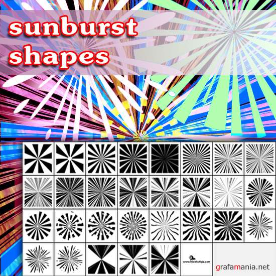 Sunburst Shapes for Photoshop