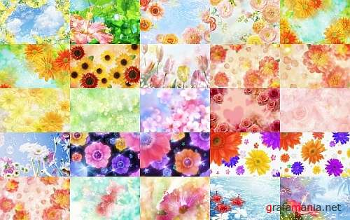 80 Floral Backgrounds