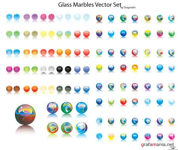 Vector Marbles icons