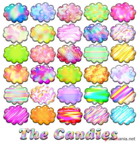 The Candies - Styles Pack For Photoshop