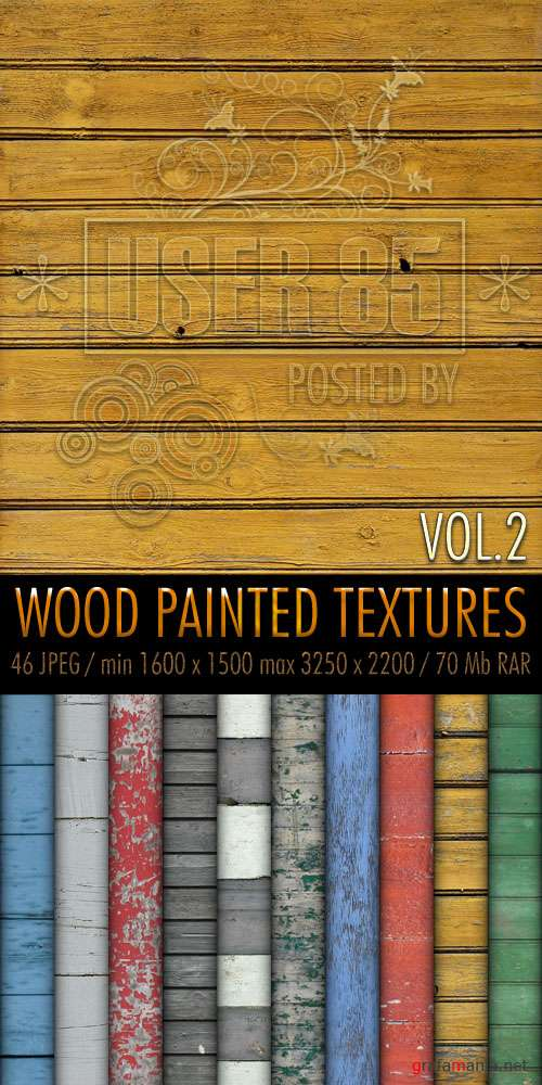 Текстуры - Wood Painted Textures #2
