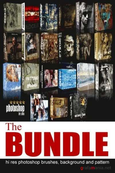 The Bundle Hi-Resolution Photoshop Brushes Collection CD (2009)