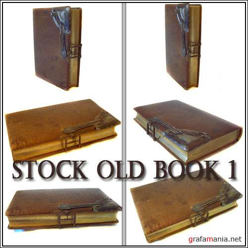 Фотоклипарт - stock old book 1