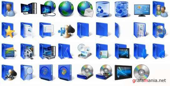 Windows 7 Blue icons