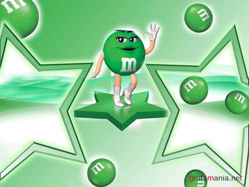 ����� ��� ���� - M&M's GREEN