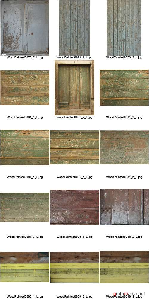 Текстуры - Wood Painted Textures #3