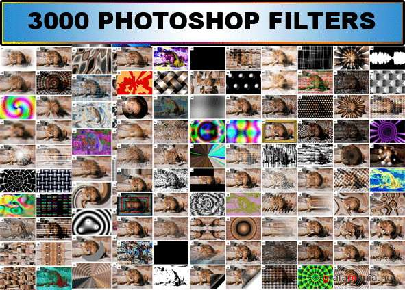 3000 Filters & 900 Actions for Photoshop