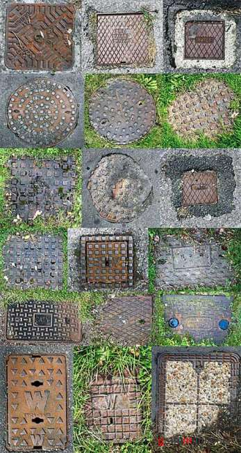 Manhole Cover Textures