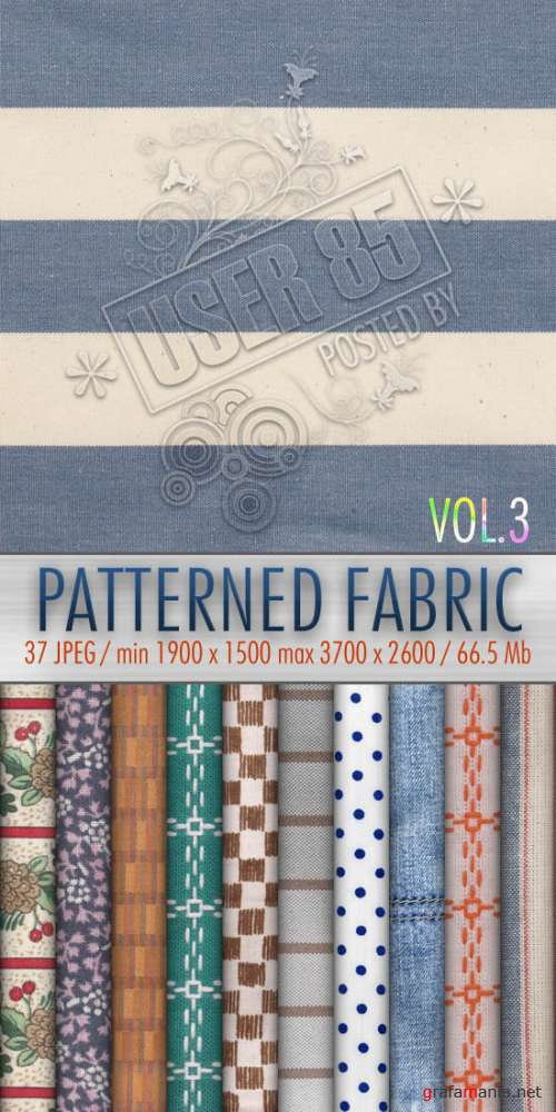 Текстуры - Patterned Fabric Textures #3