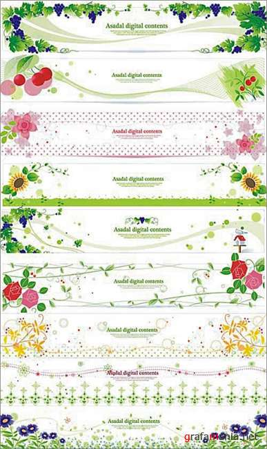 Asadal Contents | Flower Banners