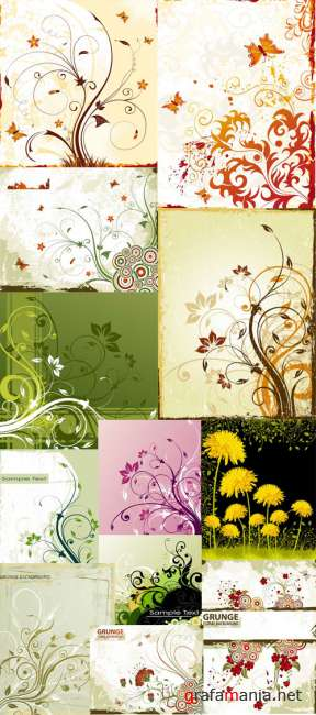 Floral Background Vectors