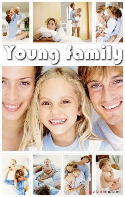 Young family - HQ clipart