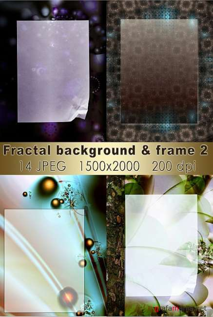 Fractal background & frame 2