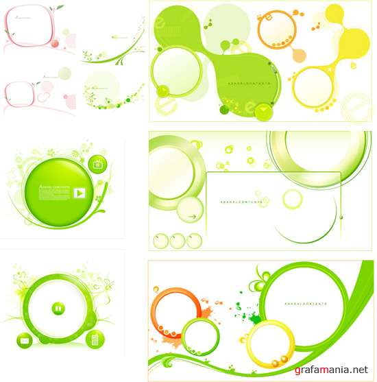Green vector elements