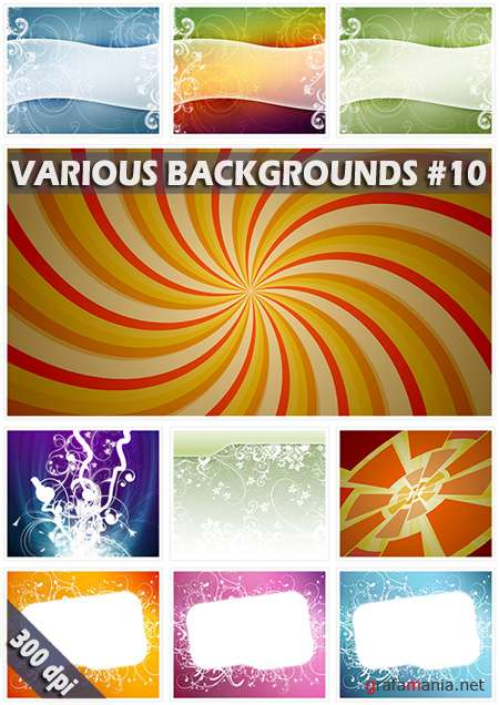 Various backgrounds. ����� 10