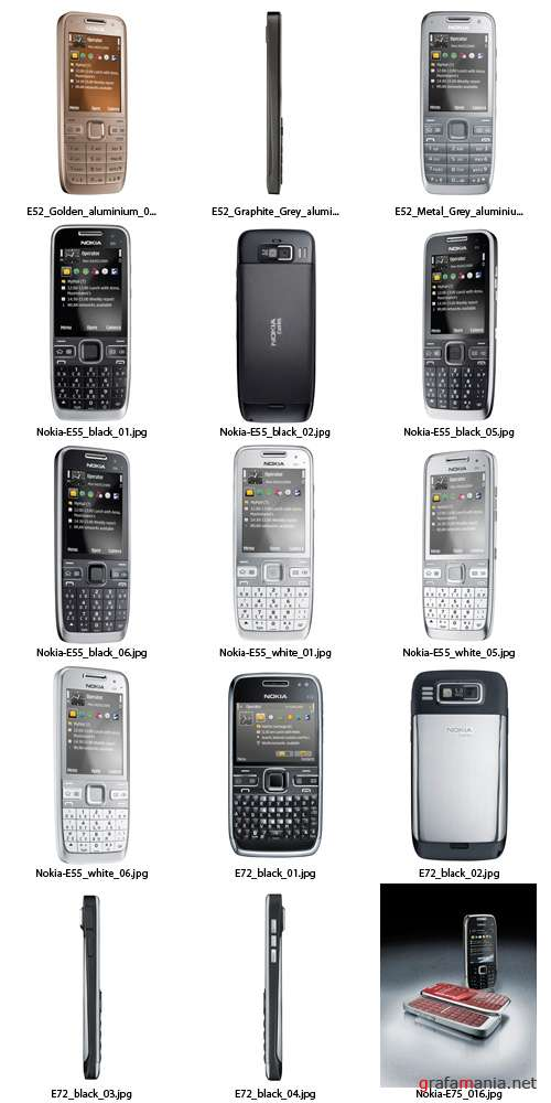 Stock Photo - Nokia E-Series 2009