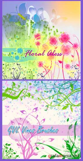"Brushes for Photoshop ""Floral Aless"""