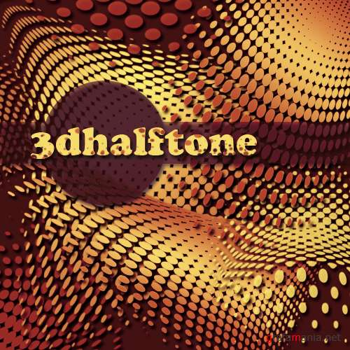 "Brushes for Photoshop ""3D HALFTONE"""