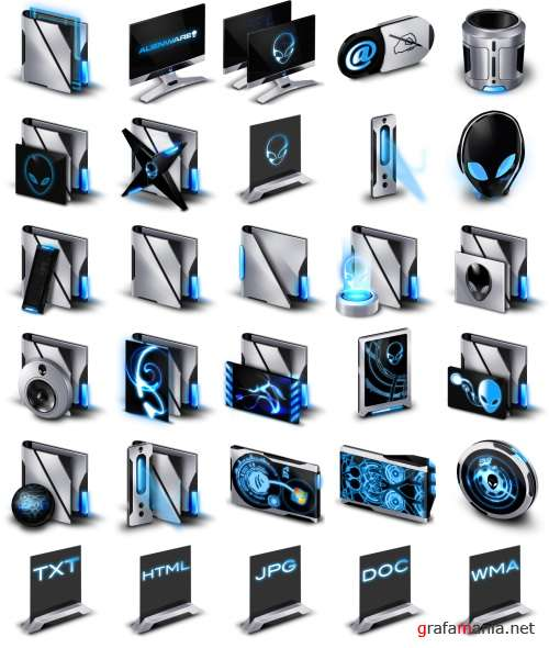 Alienware Invader Icon Pack
