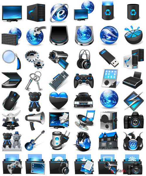 Blue Firefly Icons