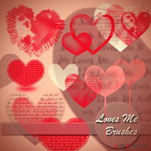 "Brushes for Photoshop ""Love Me"""