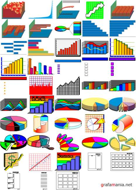 Vector Clipart Collection: Graphs and Charts