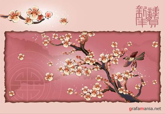 China flower vector