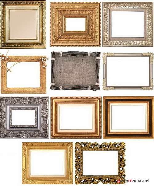 Frames of wood and metal