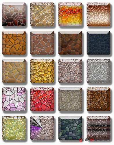 "Styles for Photoshop ""Stone & Glass"""