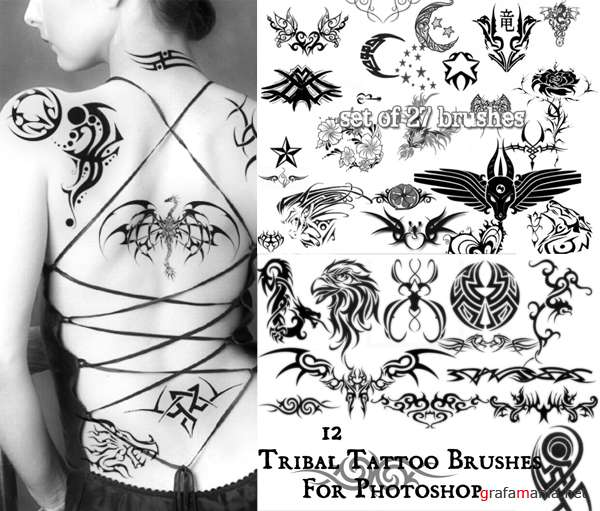 Brush  - Set tribal tatoo