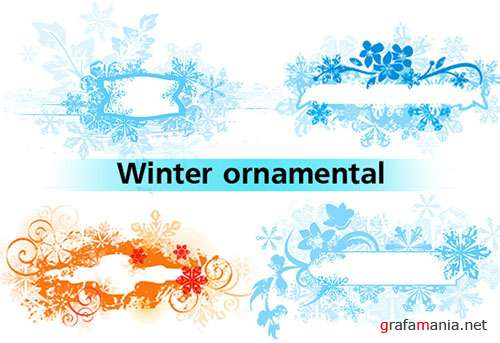 ORNAMENTAL WINTER BACKGROUNDS