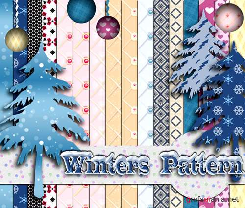 Winters Pattern for Photoshop