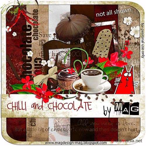 "Скрап набор ""Chilli and Chocolate"""