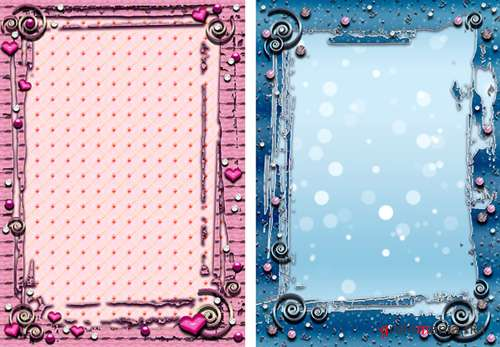 "Frames for Photoshop ""Pink & Blue"""