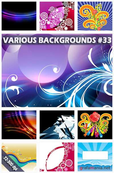 Various backgrounds. ����� 33