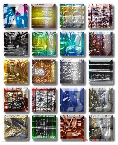 "Styles for Photoshop ""Stone & Glass - 2"""