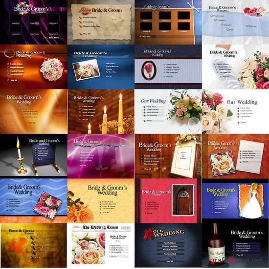 Wedding menu PSD