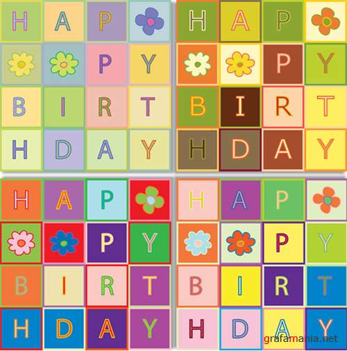Birthday Cards Patchwork by DragonArt