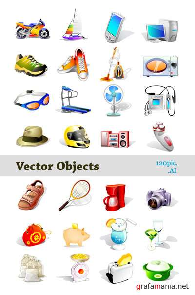 120 Vector Objects