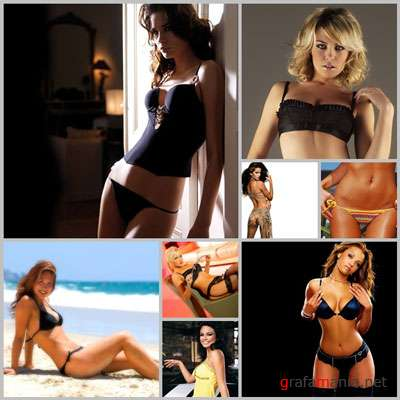 Sexy Girl Wall Pack4