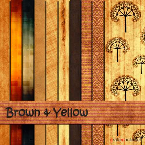 "Pattern for Photoshop ""Brown & Yellow"""