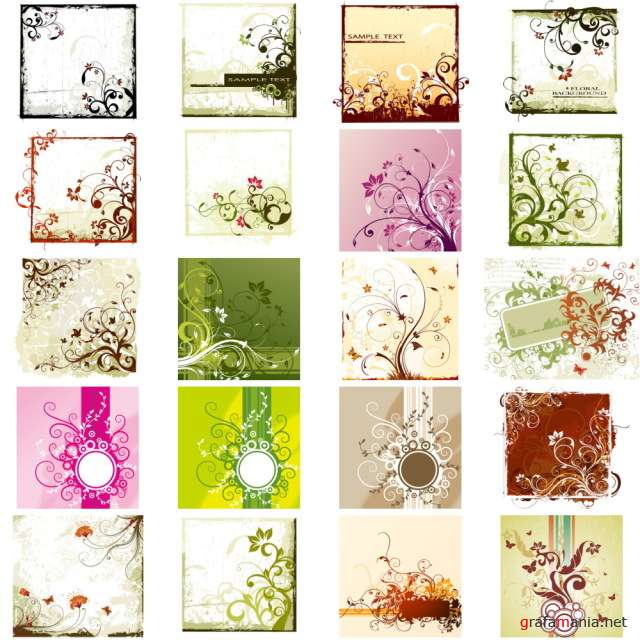 Stock Flower Vectors